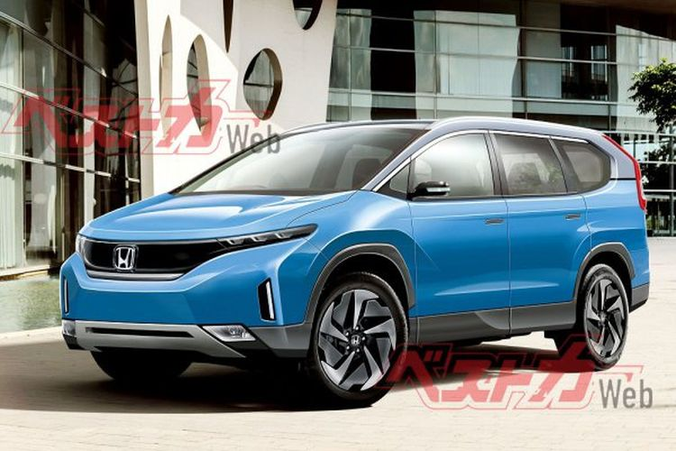 Hasil olah digital perkiraan bentuk Honda CR-V EV