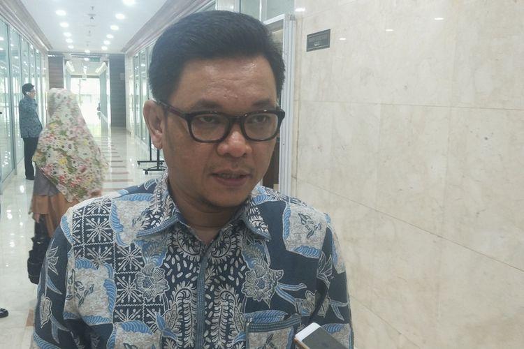 Juru Bicara Tim Kampanye Nasional pasangan Joko Widodo-Maruf Amin (TKN) Ace Hasan Syadzily saat ditemui di Kompleks Parlemen, Senayan, Jakarta, Senin (25/3/2019).