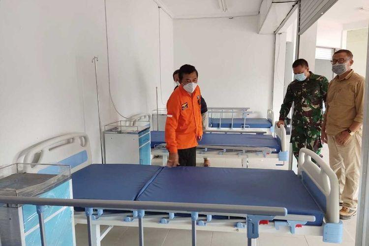 Eks Kantor BPWS di Bangkalan disulap menjadi rumah sakit lapangan.