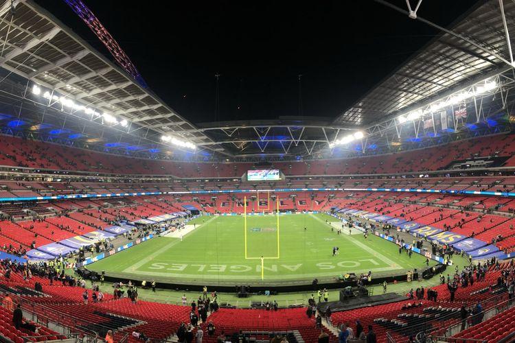 Ilustrasi Stadion Wembley di London, Inggris