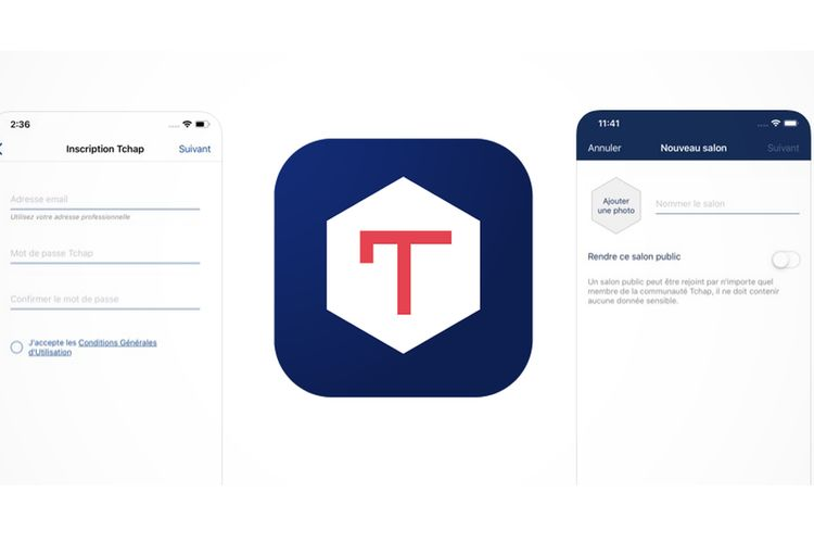 Ilustrasi aplikasi Tchap
