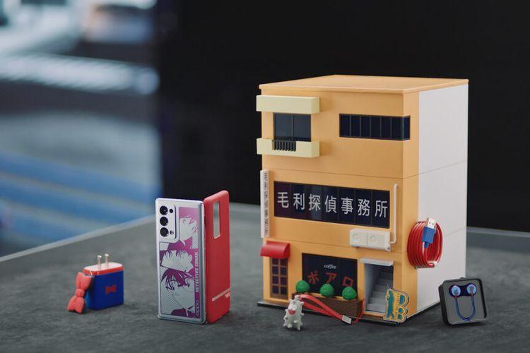 Oppo Reno6 Pro+ edisi Detective Conan yang menggunakan kotak kemasan berbentuk miniatur kantor detektif Kogor? M?ri.