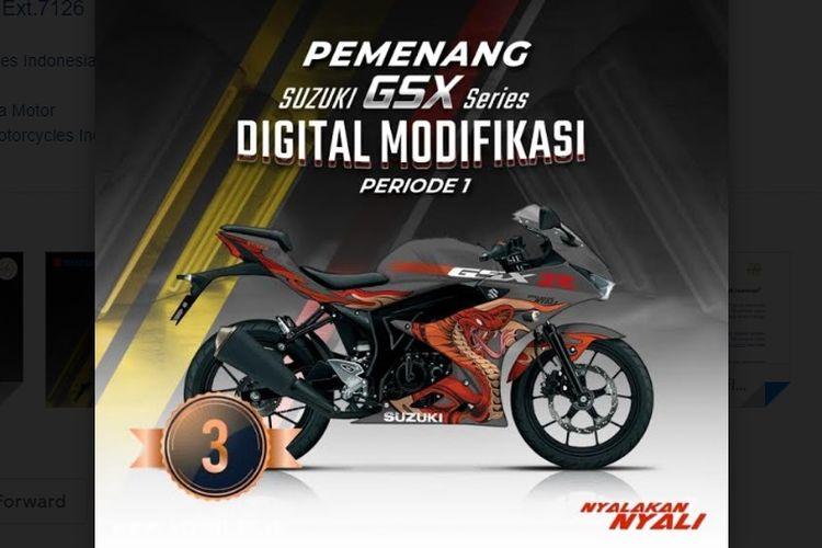 Pemenang Suzuki GSX-R150 Digital Modifikasi Periode 1