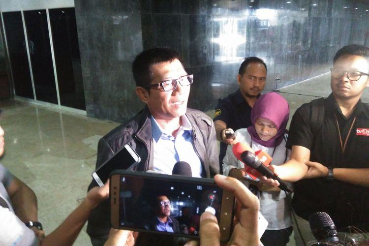 Ketua Pansus Komisi Pemberantasan Korupsi (KPK) Agun Gunandjar di Kompleks Parlemen Senayan, Jakarta, Rabu (30/8/2017)