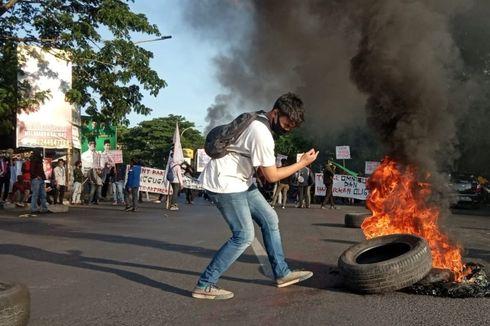 Peringati Hari Sumpah Pemuda, Mahasiswa Demo Tolak UU Cipta Kerja di DPRD Sulsel