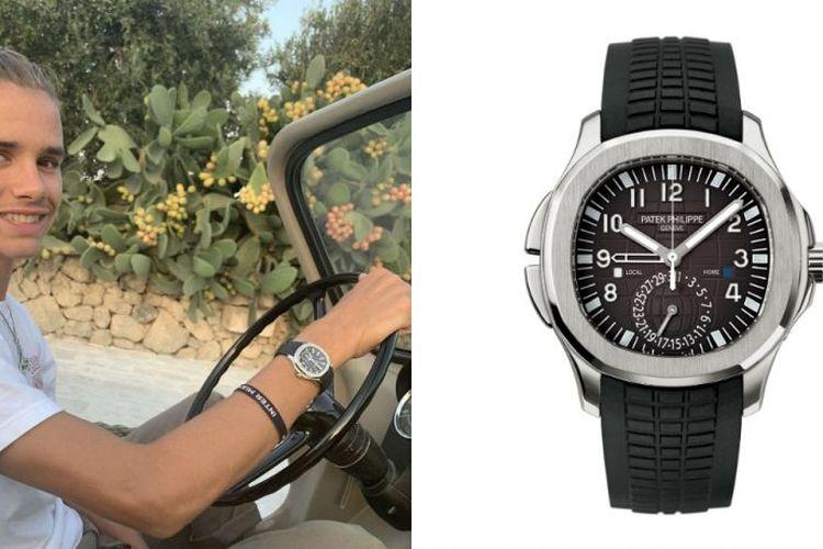 Romeo Beckham dengan jam tangan Patek Philippe