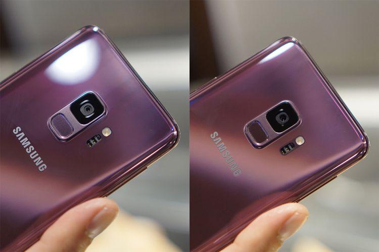 Saat diatur dengan aperture f/1.5 (foto kanan), lensa kamera Galaxy S9 memiliki bukaan lebar dibandingkan f/2.4.