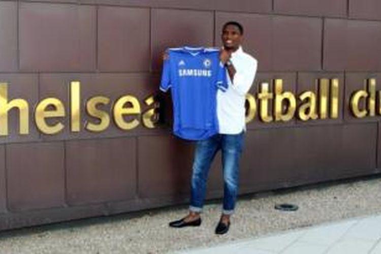 Penyerang anyar Chelsea, Samuel Eto'o.