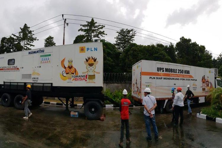 Salah satu kendaraan gardu berjalan yang disiapkan PLN guna menunjang PON XX Papua di Klaster Mimika.