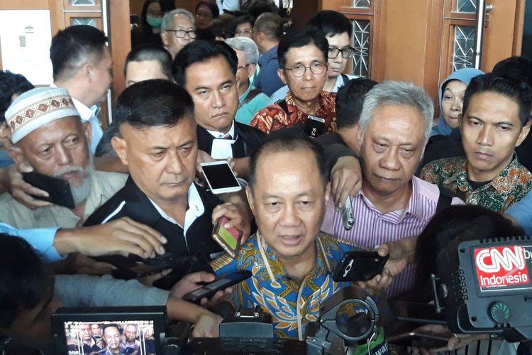 Mantan Kepala BPPN, Syafruddin Arsyad Temenggung di Pengadilan Tipikor Jakarta, Senin (24/9/2018).