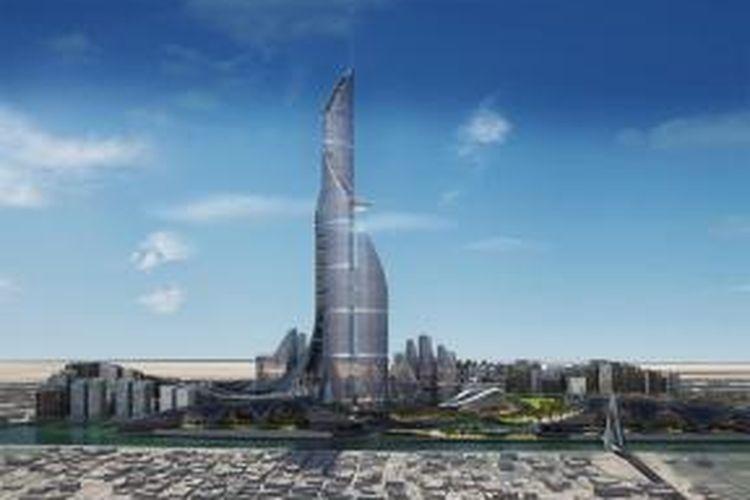 Terdiri dari empat menara yang tergabung The Bride di Irak akan memiliki 230 lantai dan ditutupi oleh antena setinggi 188 meter.