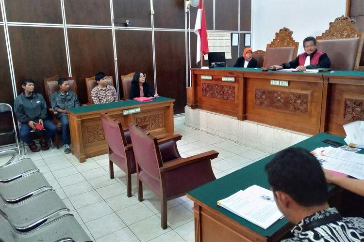 Sidang praperadilan kasus salah tangkap empat pengamen di Pengadilan Negeri Jakarta Selatan, Selasa (23/7/2019)