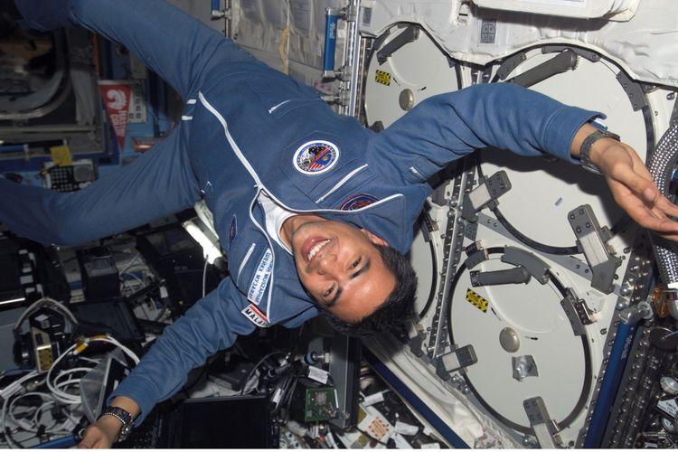 Sheikh Muszaphar Shukor ketika berada di ISS 12 Oktober 2007.