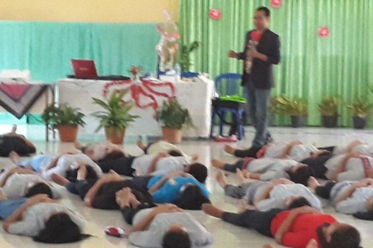 Peserta dapat melatih ketenangan untuk mengatasi rasa panik saat UN SMP.