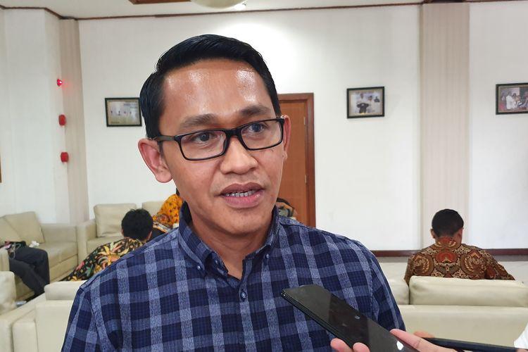 Anggota DPD RI terpilih dari Sulawesi Tengah, Abdul Rachman Thaha, usai menghadiri rapat pleno KPU, Sabtu (31/8/2019).