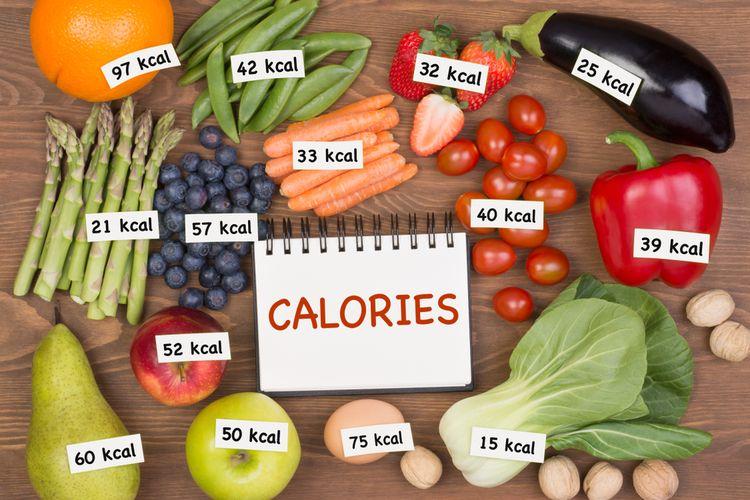 Ilustrasi kalori pada buah dan sayuran