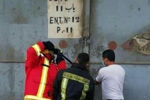 Viral, Foto Momen Terakhir 3 Pemadam Kebakaran Sebelum Ledakan di Beirut, Lebanon