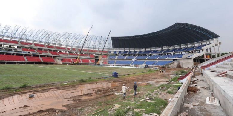 Progres pembangunan revonasi Stadion Jatidiri di Jawa Tengah