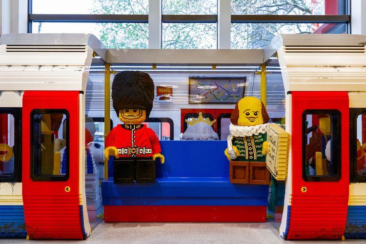 Ilustrasi bangunan terbuat dari LEGO