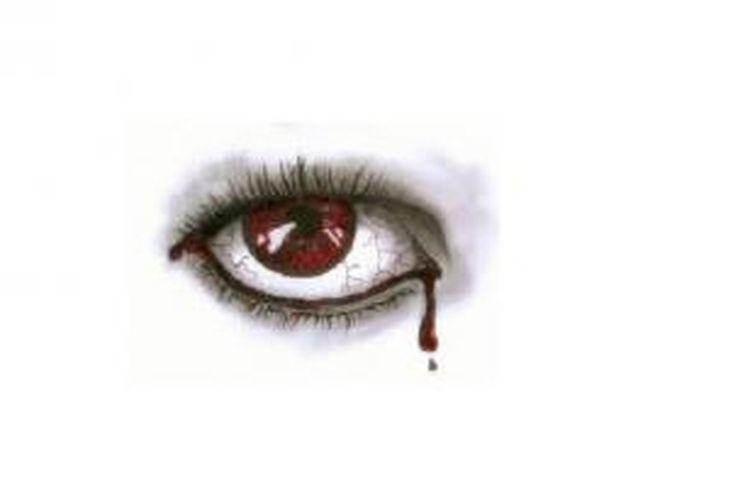 Ilustrasi tangisan darah
