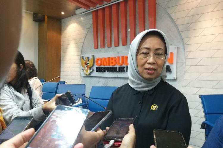 Anggota Ombudsman RI Ninik Rahayu di Kantor Ombudsman RI, Jakarta Selatan, Jumat (14/2/2020).