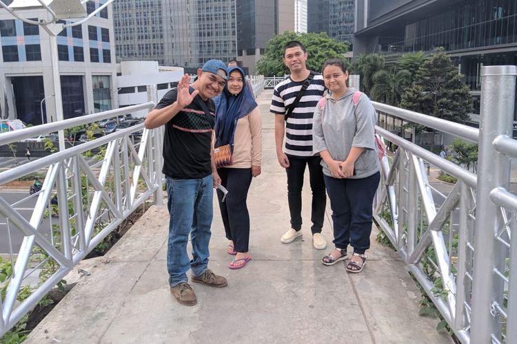 Jembatan penyeberangan orang (JPO) Sudirman, Jakarta Pusat, Selasa (5/11/2019).