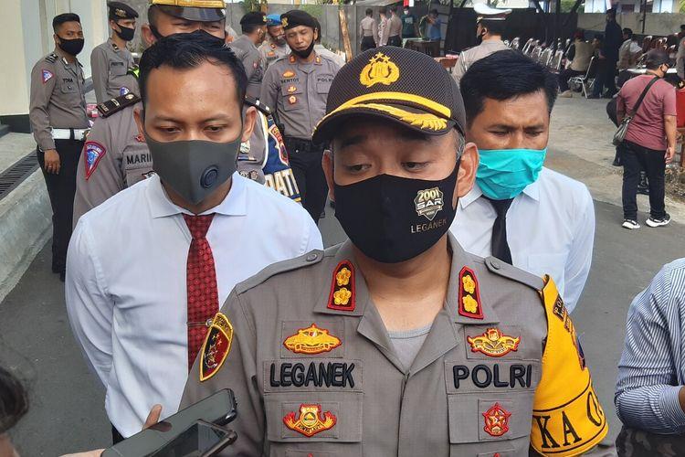 Kapolres Karanganyar, AKBP Leganek Mawardi di Mapolres Karanganyar, Jawa Tengah, Senin (22/6/2020).
