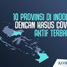 INFOGRAFIK: 10 Provinsi di Indonesia dengan Kasus Covid-19 Aktif Terbanyak