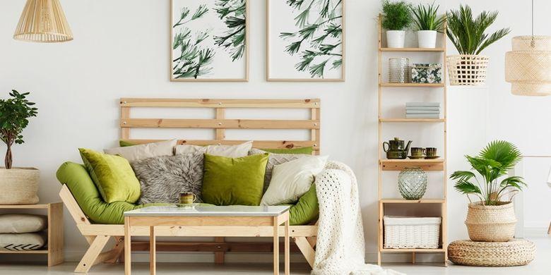 Hasil gambar untuk Tambahkan Tanaman Hijau pada Desain Interior Ruang Tamu