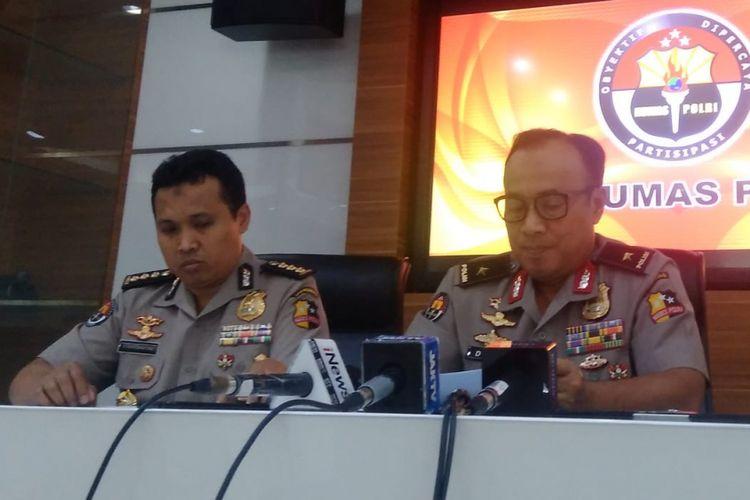 Kepala Biro Penerangan Masyarakat Divisi Humas Polri Brigjen Pol Dedi Prasetyo di Gedung Humas Mabes Polri, Jakarta Selatan, Senin (7/1/2019).