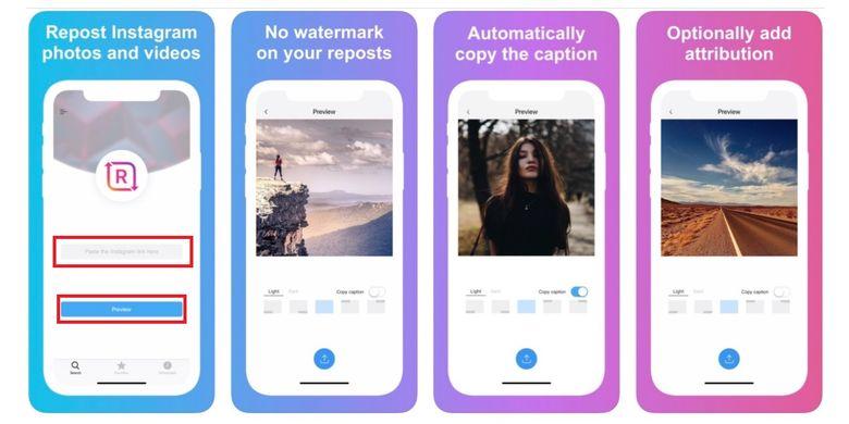 Cara mengunduh foto dan video Instagram lewat aplikasi Reposter for Instagram