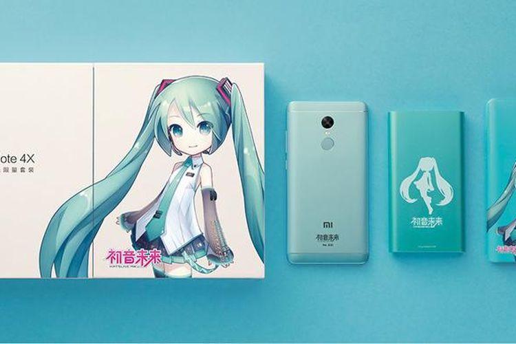 Redmi Note 4X versi Hatsune Miku