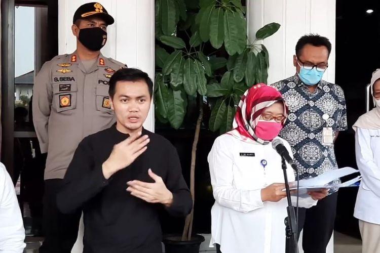Juru Bicara Penanganan Covid-19 di Balikpapan, Kalimantan Timur, Andi Sri Juliarty saat memberi keterangan pers di Balikpapan, Rabu (24/6/2020).
