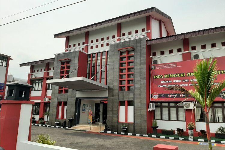Bagian depan lapas Narkotika kelas II A Yogyakarta yang berada di Kecamatan Pakem, Kabupaten Sleman .