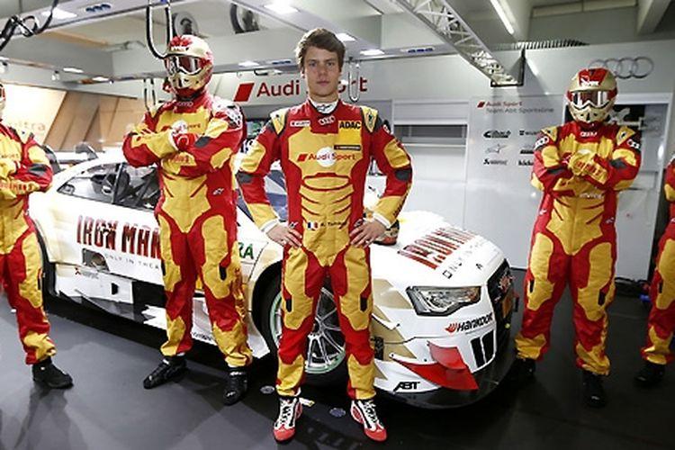Audi RS5 balap DTM dengan corak Iron Man