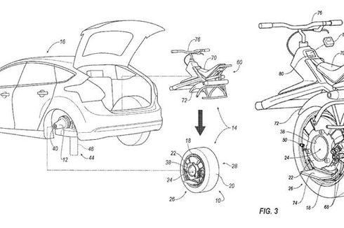 Fungsi Ban Mobil Berubah Jadi Motor Roda Satu
