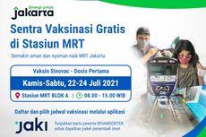 Simak Jadwal dan Syarat Vaksinasi Gratis di Stasiun MRT Jakarta