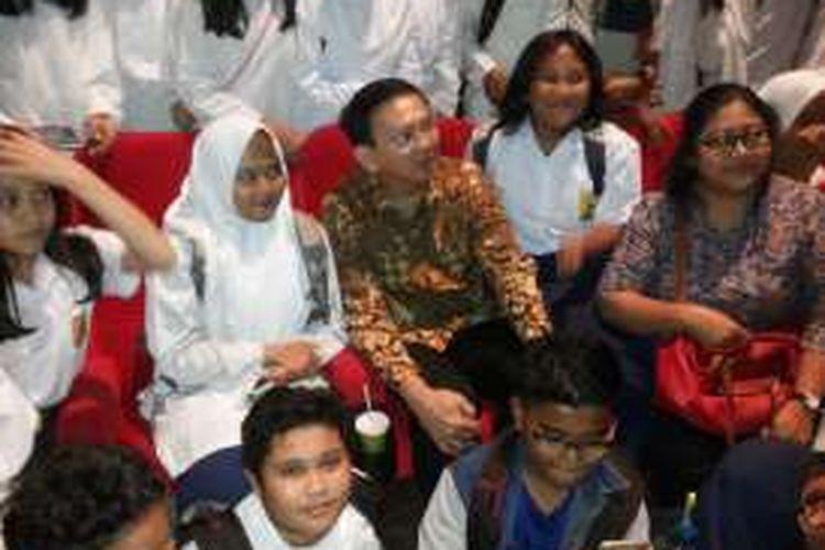 Gubernur DKI Jakarta Basuki Tjahaja Purnama usai mengadakan nonton film