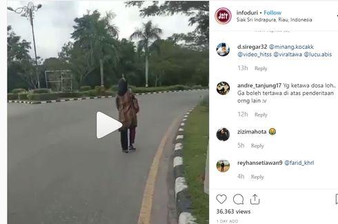 Viral, Pengendara Motor Kabur Tinggalkan Istri karena Takut Ditilang