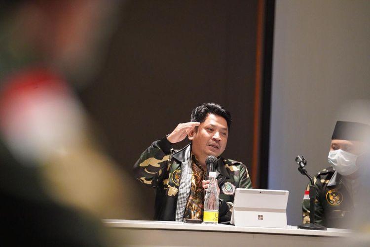 Direktur Jenderal Pendidikan Islam (Dirjen Pendis) Kemenag Muhammad Ali Ramdhani saat pengumuman hasil seleksi UMPTKIN 2020 di Jakarta (25/8/2020).