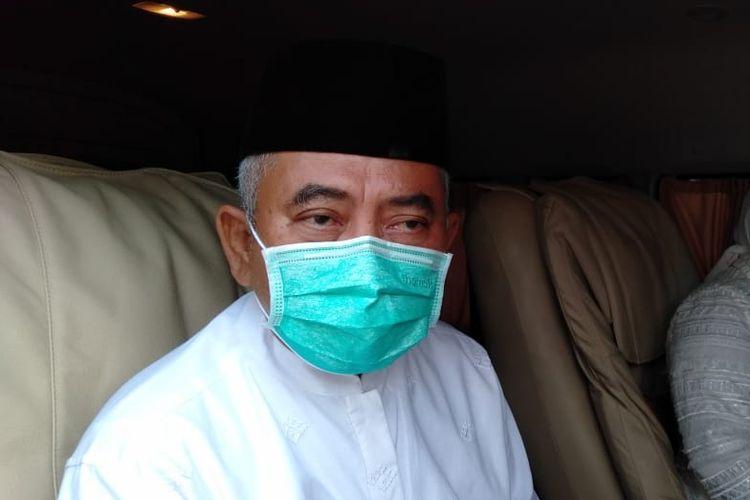 Wali Kota Bekasi Rahmat Effendi ditemui selepas menunaikan shalat Idul Fitri di Masjid Agung Al-Barkah, Kamis (13/5/2021) pagi.