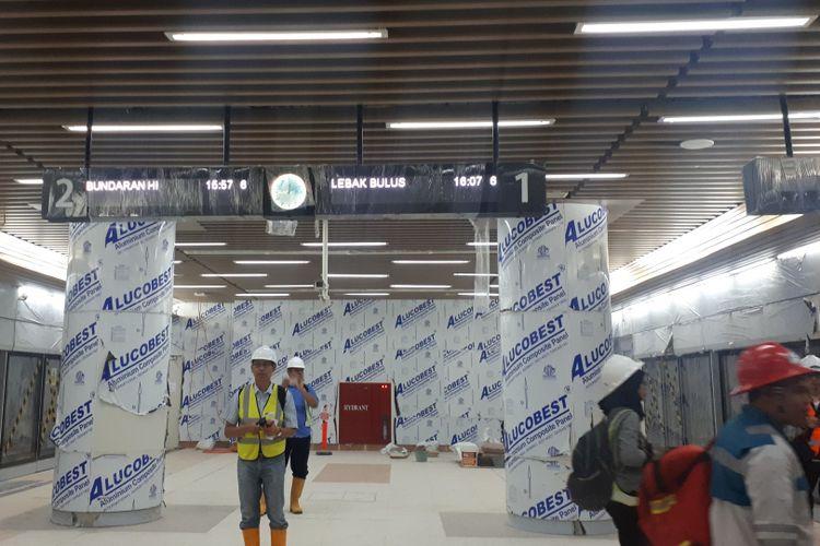 Stasiun MRT Dukuh Atas. Foto diambil Kamis (29/11/2018).
