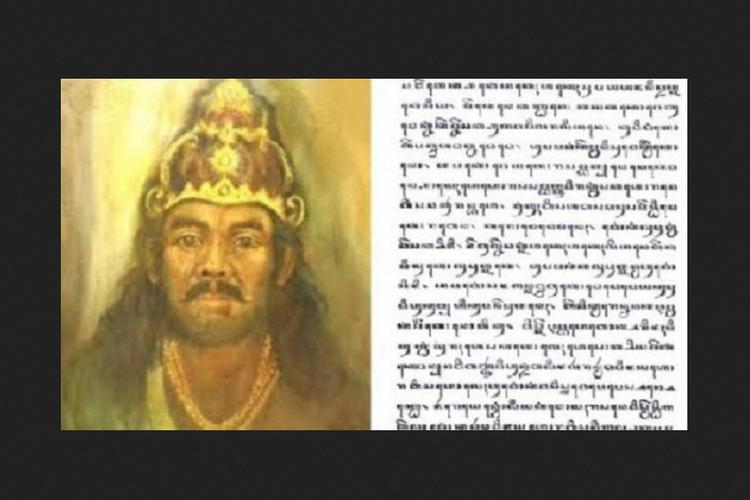 Ilustrasi Raja Kerajaan Kediri, Prabu Jayabaya, dan ramalannya.