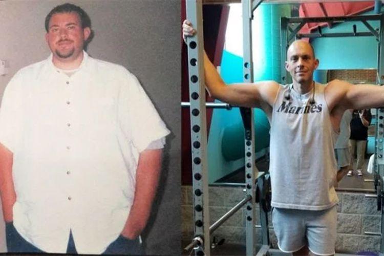 Walt Howington sudah tahu sejak lama bahwa berat badannya berlebih. Sekitar 16 tahun lalu, --ketika masih berusia 24 tahun, pria ini pernah memiliki berat badan lebih dari 181 kilogram, dengan tinggi badan 188 centimeter (kiri).