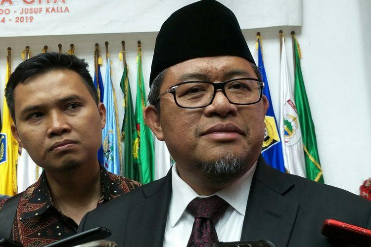 Gubernur Jawa Barat, Ahmad Heryawan ketika ditemui di Kantor Kementerian Dalam Negeri RI, Jakarta, Rabu (25/4/2018).
