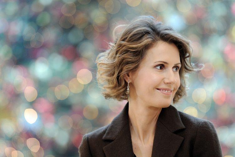 Istri Presiden Suriah Bashar al-Assad, Asma al-Assad, saat berada di Hotel Bristol pada 11 Desember 2010 di Paris, Perancis. Asmad berada di Perancis dalam kunjungan selama dua hari.