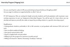 Sampoerna Buka Lowongan Kerja dan Program Magang bagi Lulusan  S1
