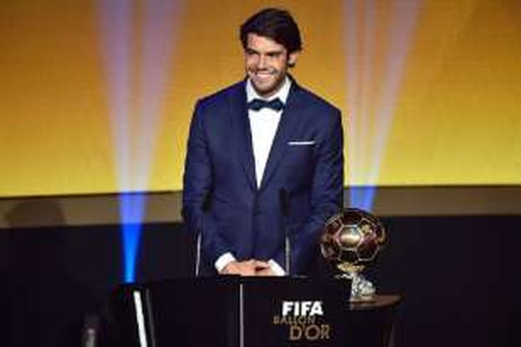 Pemain asal Brasil, Kaka, hadir pada acara FIFA Ballon d'Or 2015 pada 11 Januari 2016 di Zurich, Swiss.