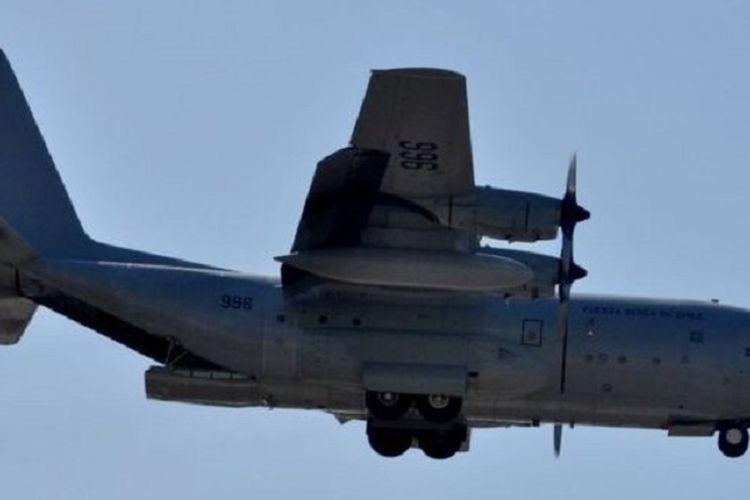 Ilustrasi pesawat transportasi C-130 Hercules.