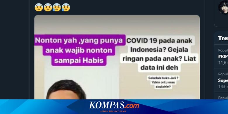 Viral, IDAI Ungkap Data Kasus Covid-19 pada Anak, Ini Penjelasannya